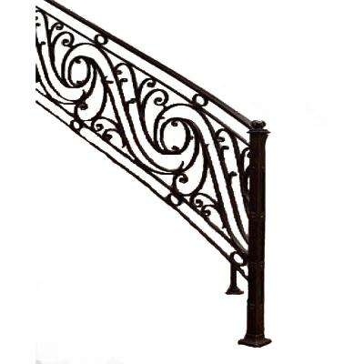 Iron Stair Railings Stair Parts The Home Depot | Cast Iron Stair Railing | Residential | Horizontal | Chrome Picket Interior | Custom | Iron Baluster
