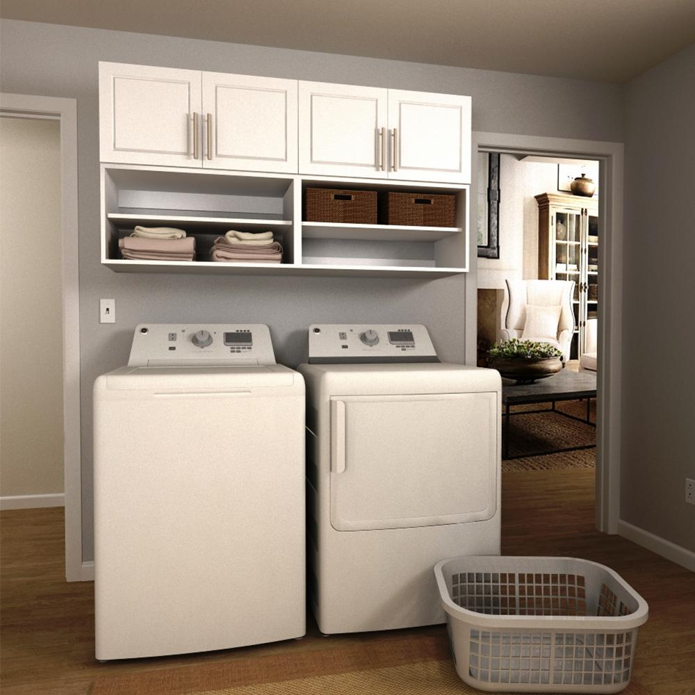 Modifi Madison 60 in. W White Open Shelves Laundry Cabinet ... on Laundry Cabinets  id=33433