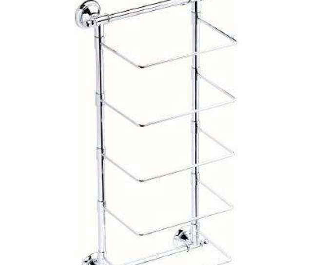 Bar Wall Mounted Towel Rack In Polished Chrome