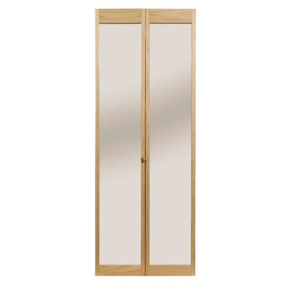 pinecroft 30 in x 80 in traditional mirror wood on Pinecroft 30 In X 80 In Optique Clear Lite id=73348