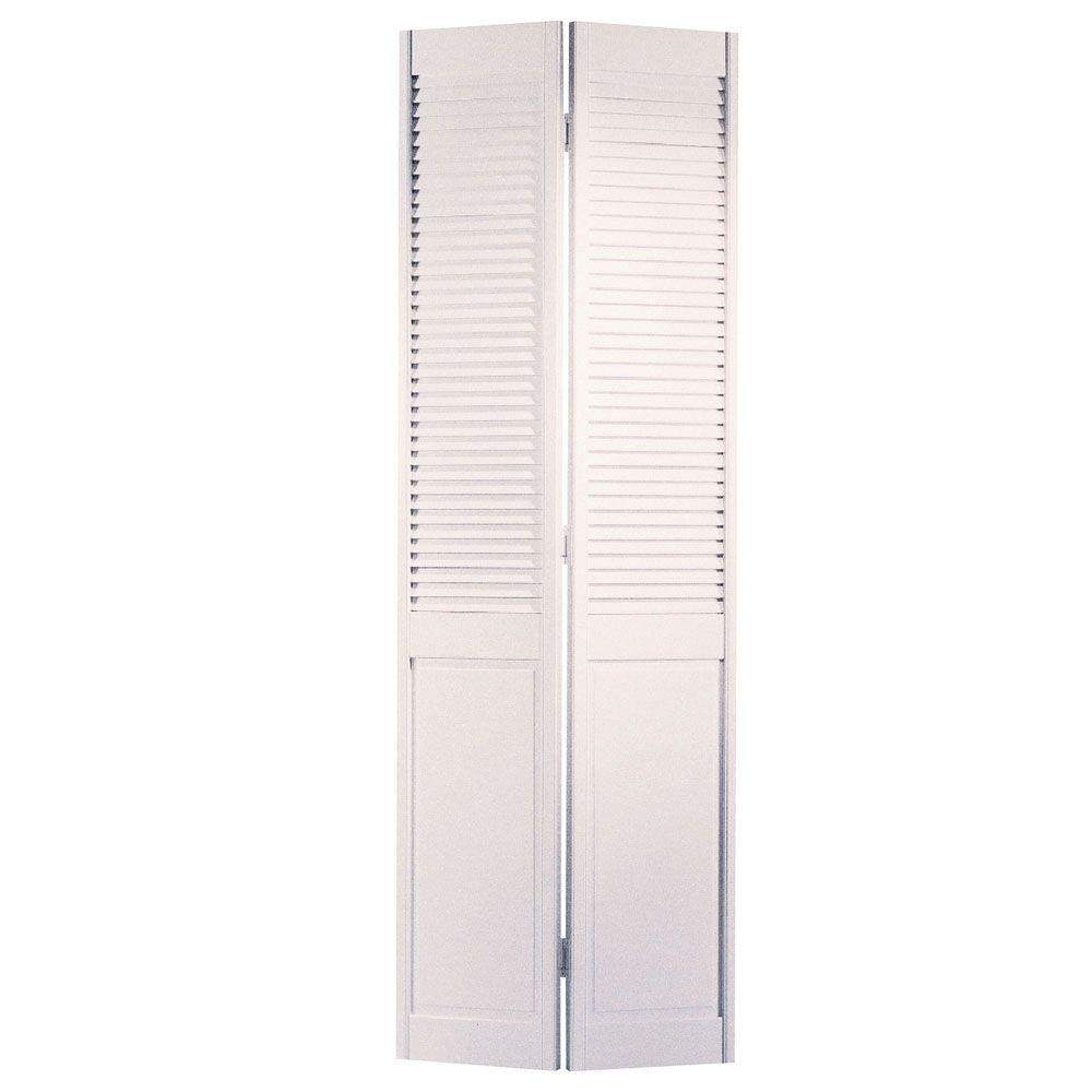 masonite 30 in x 80 in half louvered primed white hollow Masonite 30 In X 80 In Half Louvered Primed Hollow id=84213
