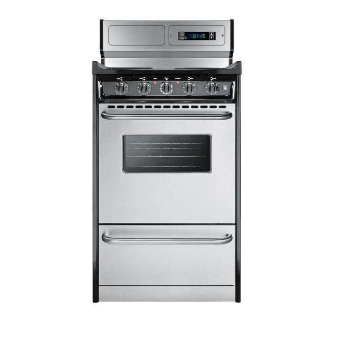 Summit Liance 20 In 2 46 Cu Ft Electric Range Stainless Steel