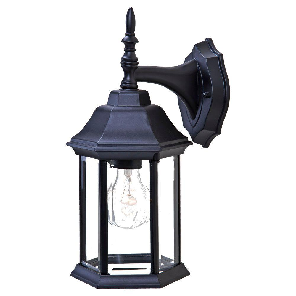Acclaim Lighting Craftsman 2 Collection 1-Light Matte ... on Outdoor Lighting Fixtures Wall Mounted id=60540