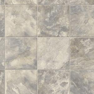 TrafficMASTER Neutral Square Slate 12 Ft Wide X Your Choice Length Vinyl Sheet U6920
