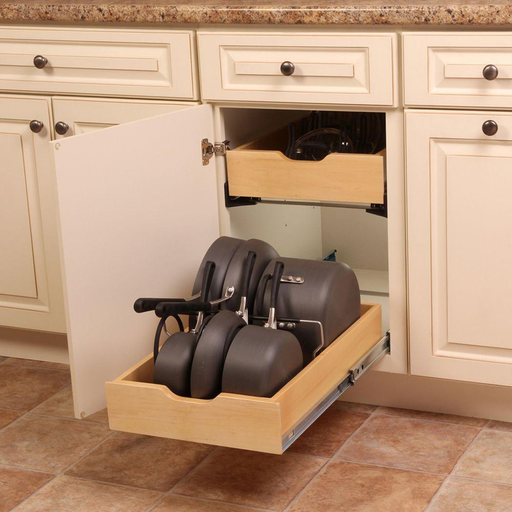 Best Kitchen Gallery: Real Solutions For Real Life 7 5 In X 15 3 In X 12 In Pot And Pan of Kitchen Cabinet Drawer Kits on rachelxblog.com