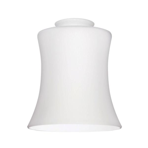Light Covers   Ceiling Fan Parts   The Home Depot Handblown White Opal Fluted Glass Shade with 2