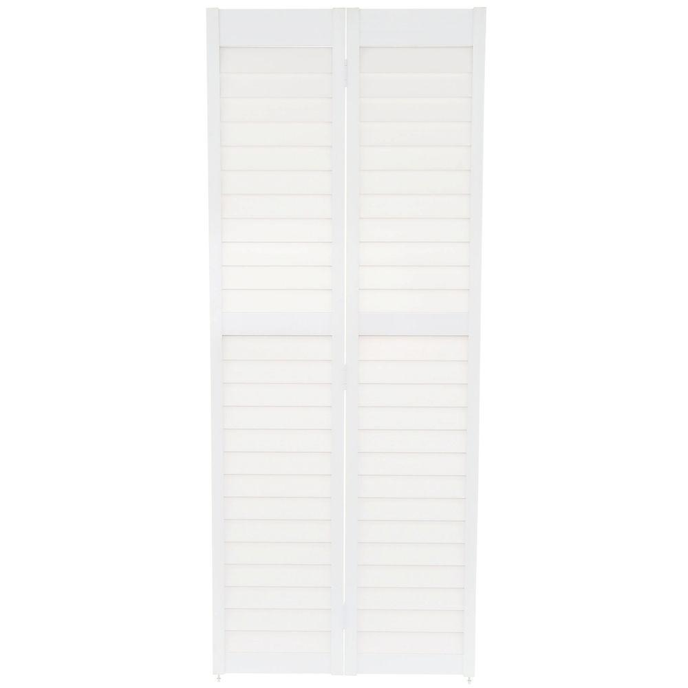 home fashion technologies 32 in x 80 in 3 in louver on Home Fashion Technologies 30 In X 80 In 6 Panel White id=68698