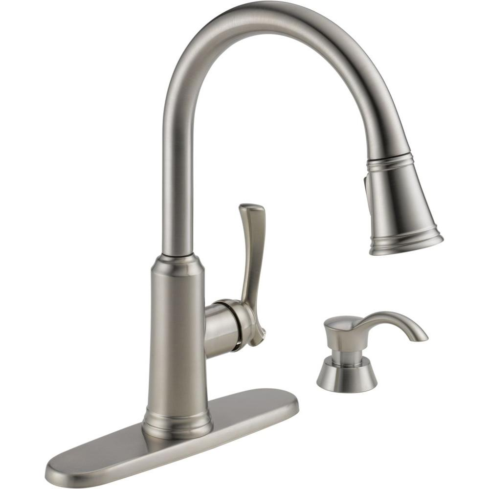 kitchen sink faucet with soap dispenser