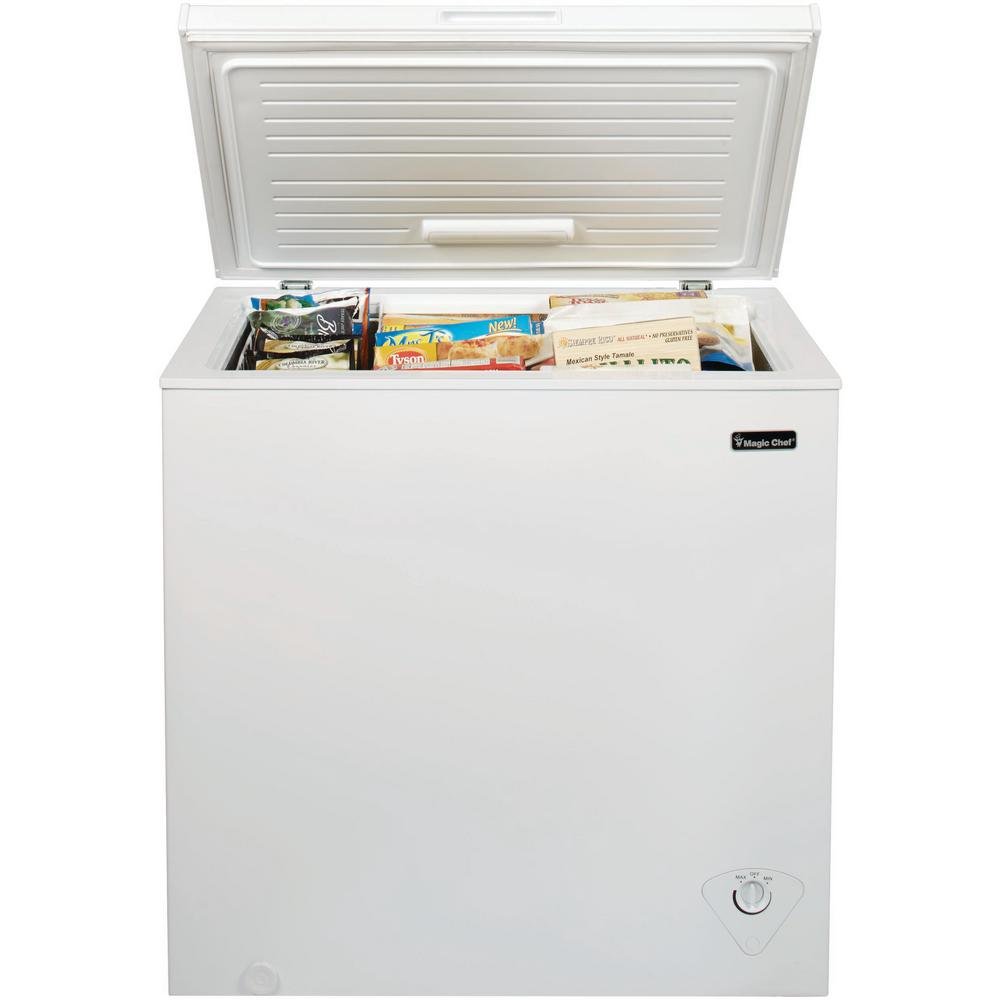Magic Chef 7 0 Cu Ft Chest Freezer In White Hmcf7w3 The Home Depot