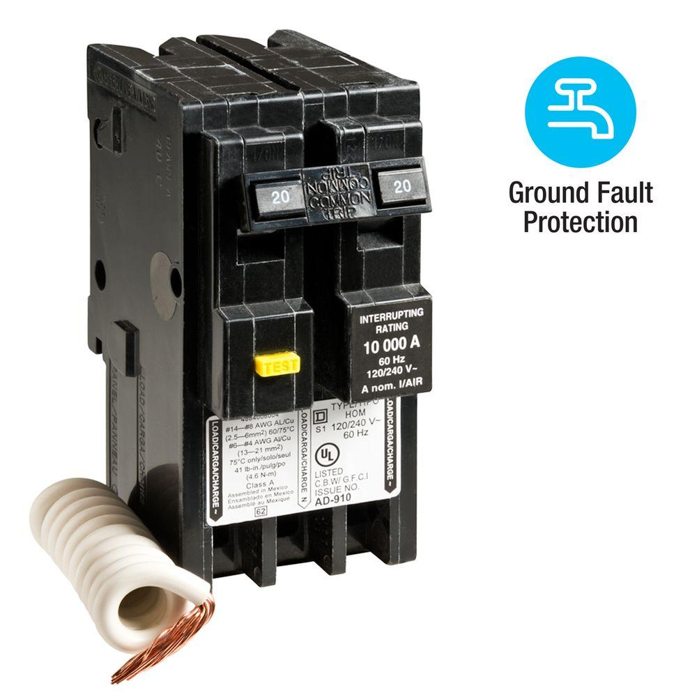 square d 2 pole breakers hom220gfi 64_1000?resize\=665%2C665\&ssl\=1 eaton gfci breaker wiring diagram eaton wiring diagrams collection  at couponss.co