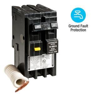 Square D Homeline 20 Amp 2Pole GFCI Circuit Breaker