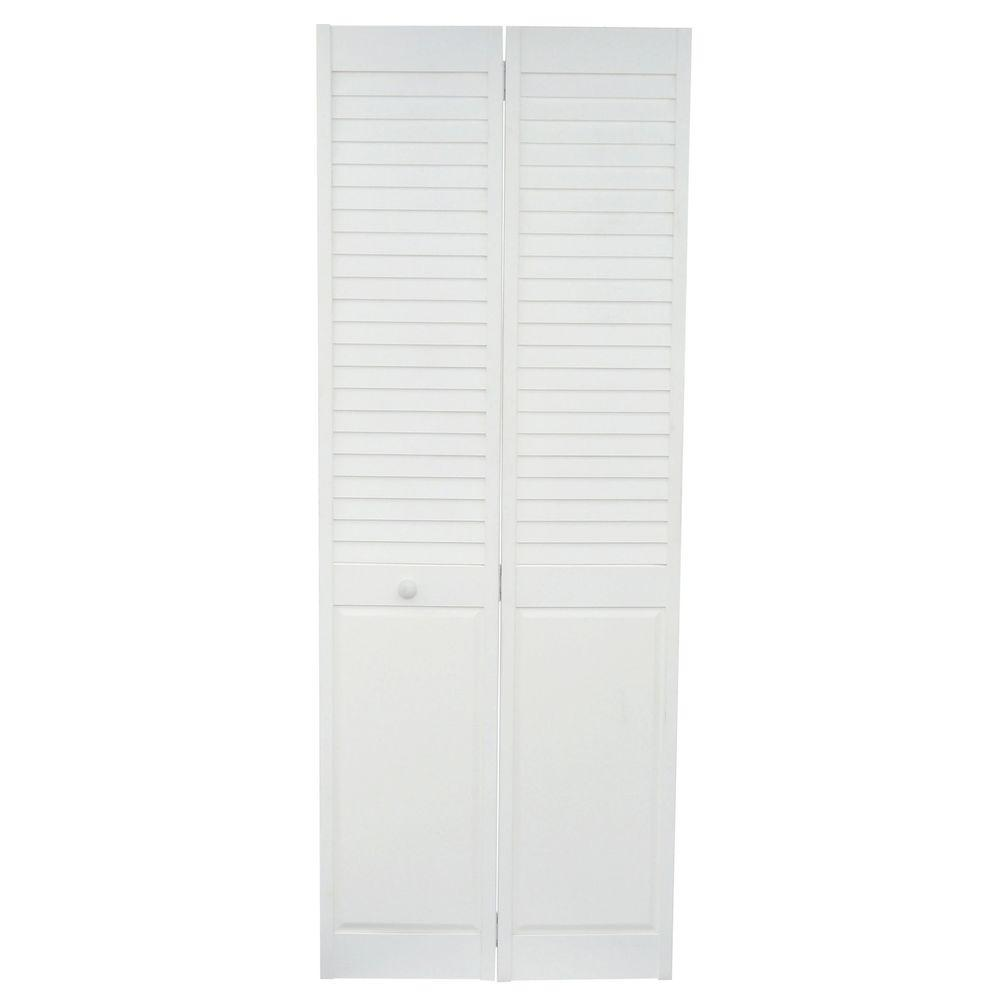 home fashion technologies 30 in x 80 in louver panel Home Fashion Technologies 30 In X 80 In 6 Panel White id=91474