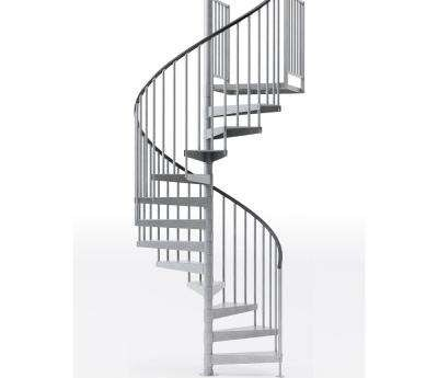 Spiral Staircase Kits Stair Parts The Home Depot | Used Steel Stairs For Sale | Hinged | Portable | U Shaped | Garage | 8 Foot