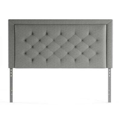 King   Beds   Headboards   Bedroom Furniture   The Home Depot Upholstered Stone King with Diamond Tufting Headboard
