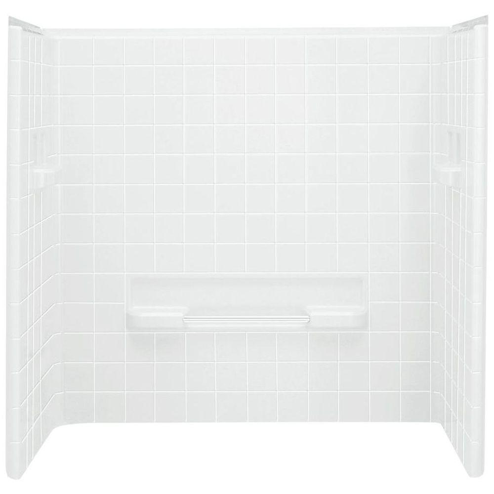 STERLING All Pro 60 In X 31 12 In X 59 In 3 Piece Direct To Stud Tub Surround In White