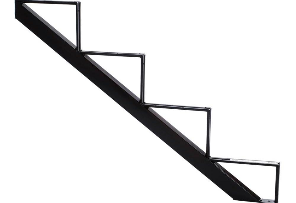 Pylex 3 Steps Steel Stair Stringer Black 7 1 2 In X 10 1 4 In | Outdoor Stair Treads Home Depot | Anti Slip Stair | Rugs | Non Slip | Tread Covers | Pressure Treated
