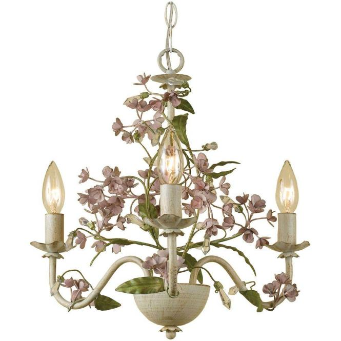 Grace 3 Light Antique Cream Mini Chandelier