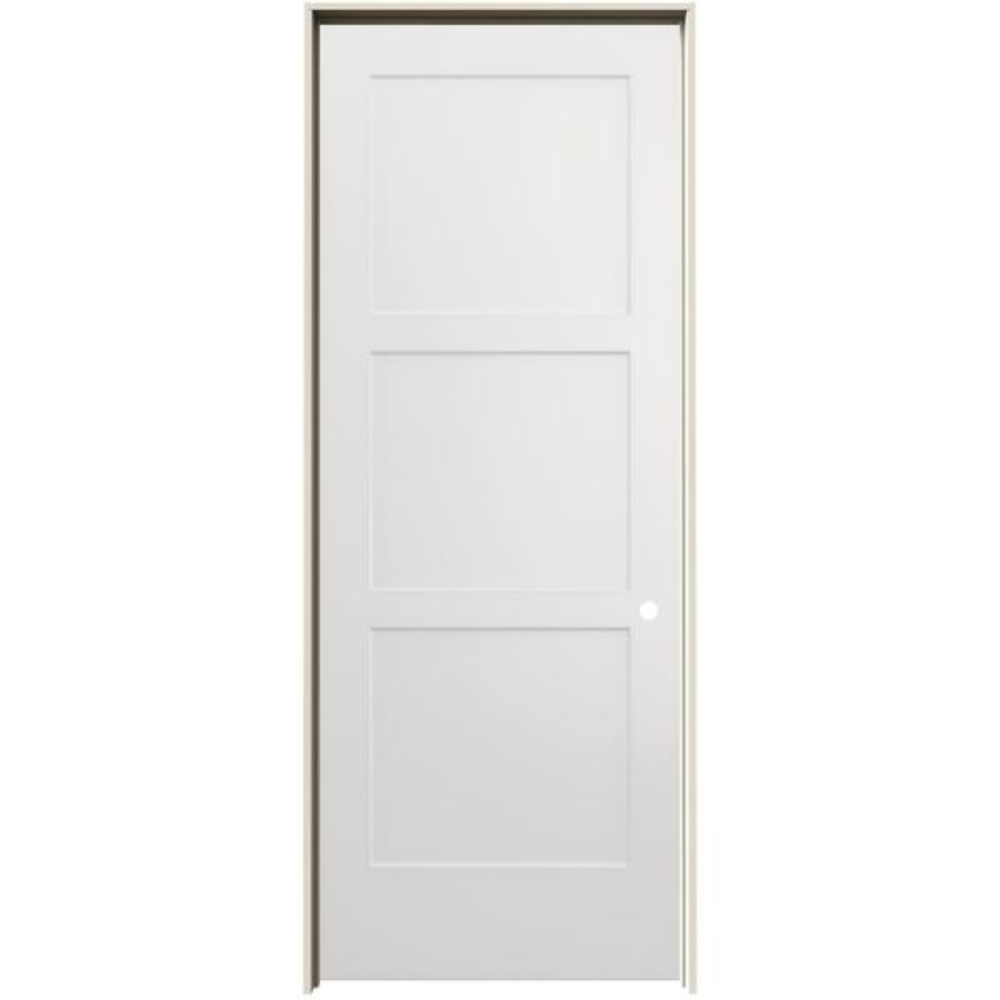 jeld wen 36 in x 96 in birkdale white paint left 36 In X 96 In Composite White Interior Bi Fold Door id=91602