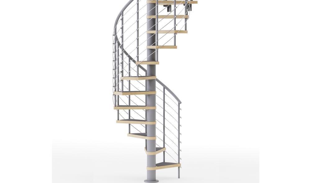 Mylen Stairs Hayden Gray Interior 42 Diameter 10 Treads With 1 42 | 10 Foot Spiral Staircase | Reroute Galvanized | Lowes | Stair Kit | Winding Staircase | Staircase Kit