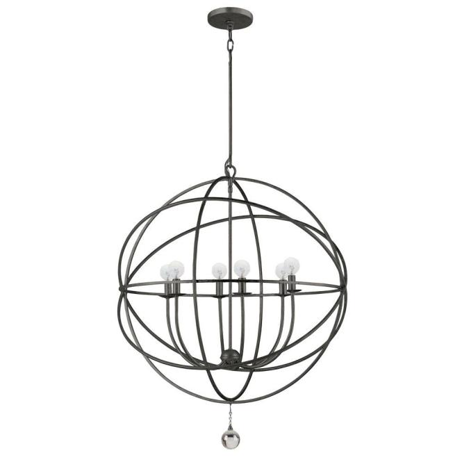 Home Decorators Collection 6 Light English Bronze Chandelier
