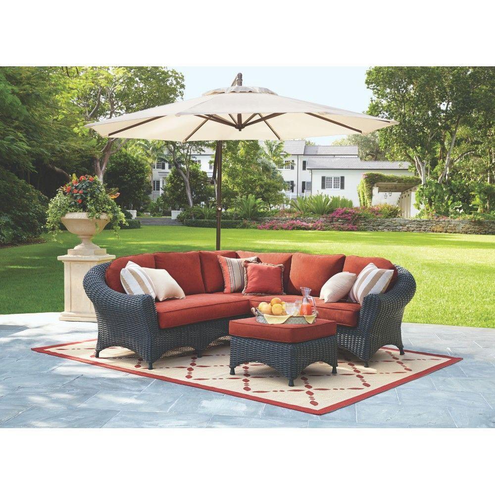 Martha Stewart Living Lake Adela 4-Piece Charcoal All ... on Martha Stewart 6 Piece Patio Set id=85890