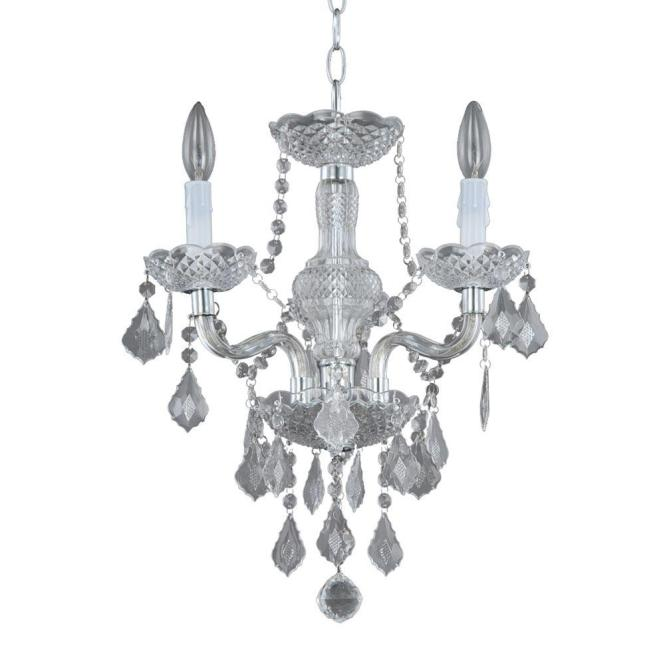 Hampton Bay 3 Light Chrome And Acrylic Maria Teresa Chandelier C873ch03 The Home Depot