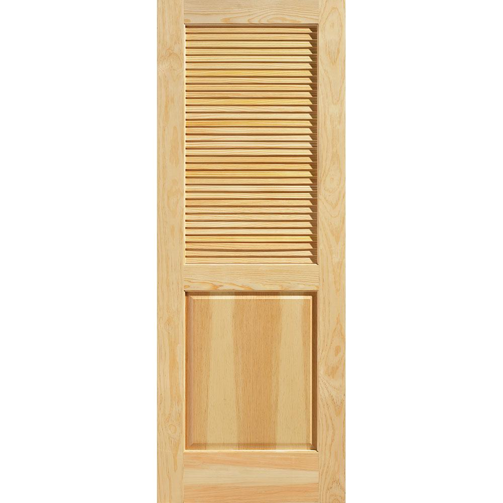 masonite 30 in x 80 in smooth half louvered solid Masonite 30 In X 80 In Half Louvered Primed Hollow id=52103