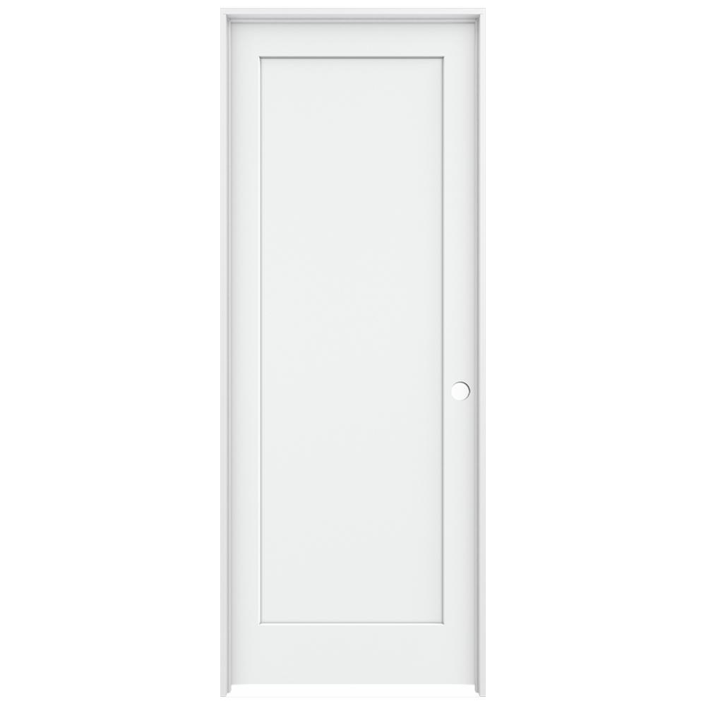 jeld wen 36 in x 96 in white painted left on 36 In X 96 In Composite White Interior Bi Fold Door id=31568