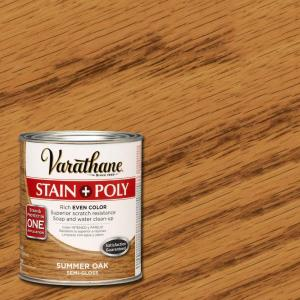 Varathane 1 Qt Summer Oak Stain And Polyurethane Case Of