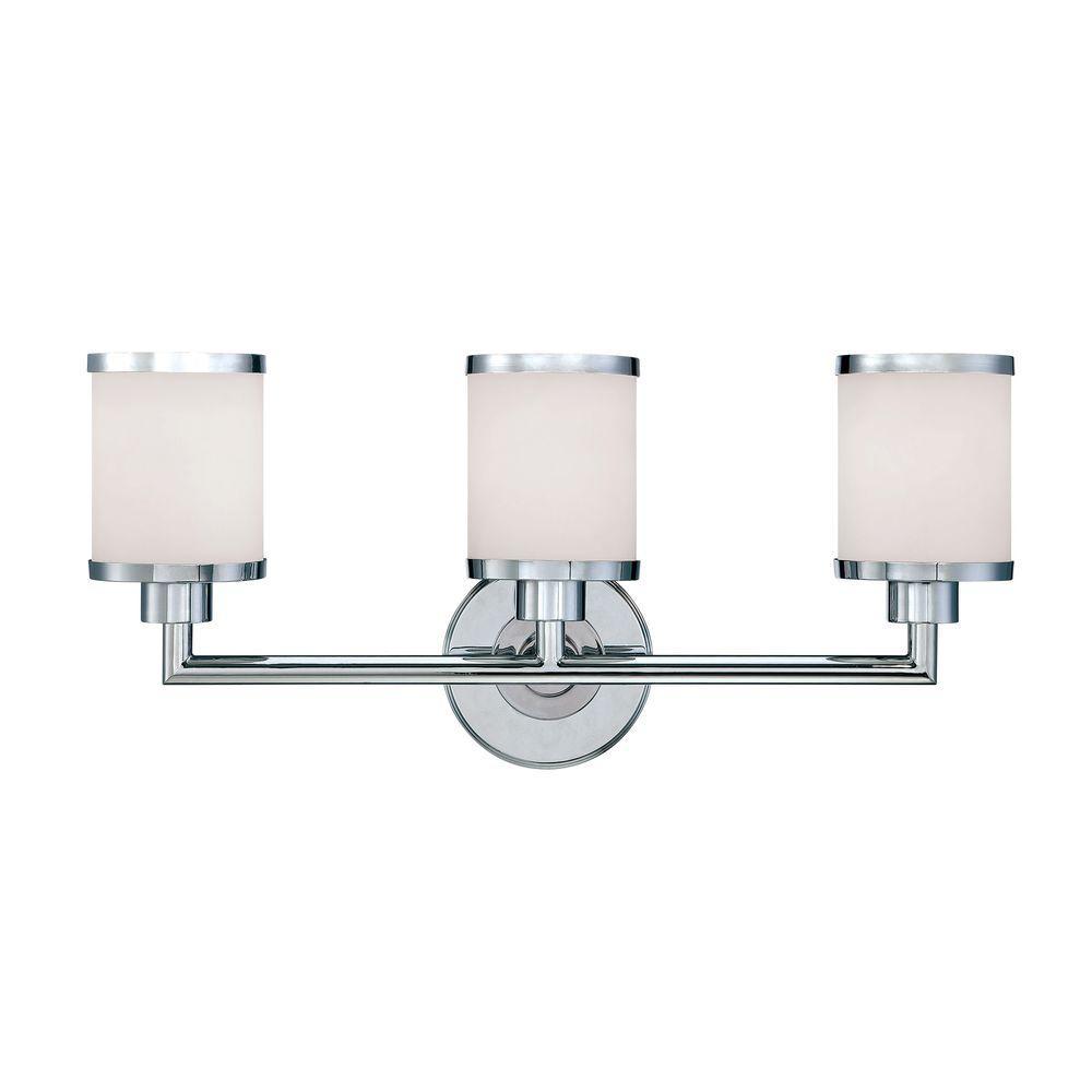 chrome - vanity lighting - lighting - the home depot