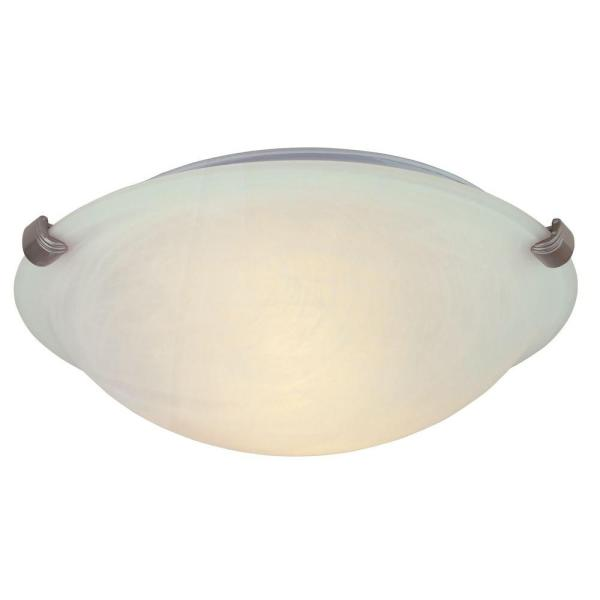 Hampton Bay 12 in  2 Light Pewter Flushmount with Alabaster Glass     2 Light Pewter Flushmount with Alabaster Glass Shade HB1313 12   The Home  Depot