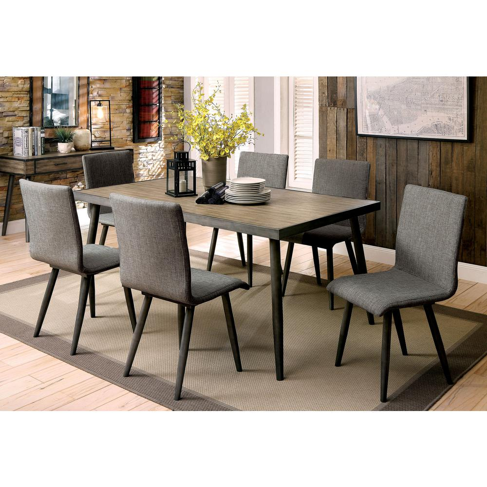 Williams Home Furnishing Vilhelm I Gray Mid Century Modern Style Dining Table Cm3360t The Home Depot