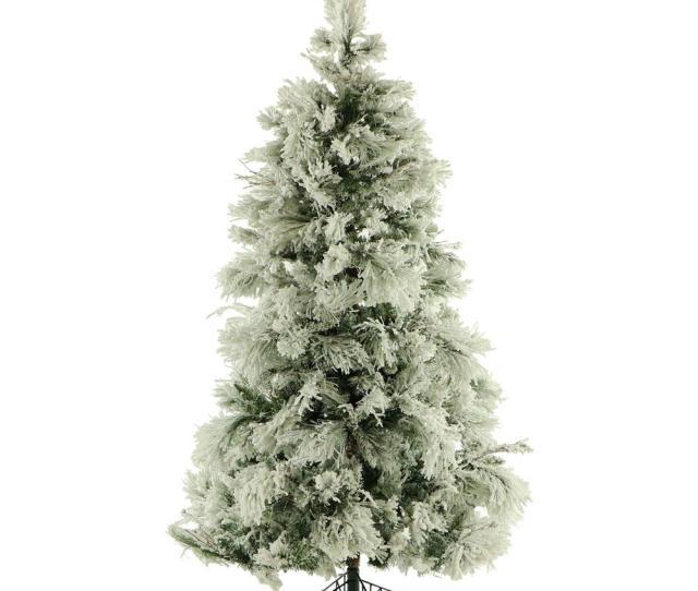 Unlit Flocked Snowy Pine Artificial Christmas Tree