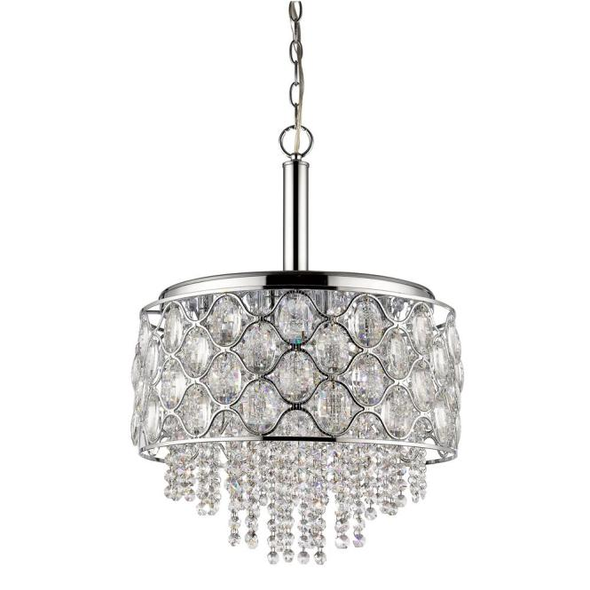 Acclaim Lighting Isabella Indoor 6 Light Polished Nickel Chandelier With Crystal Strands In11085pn The Home Depot