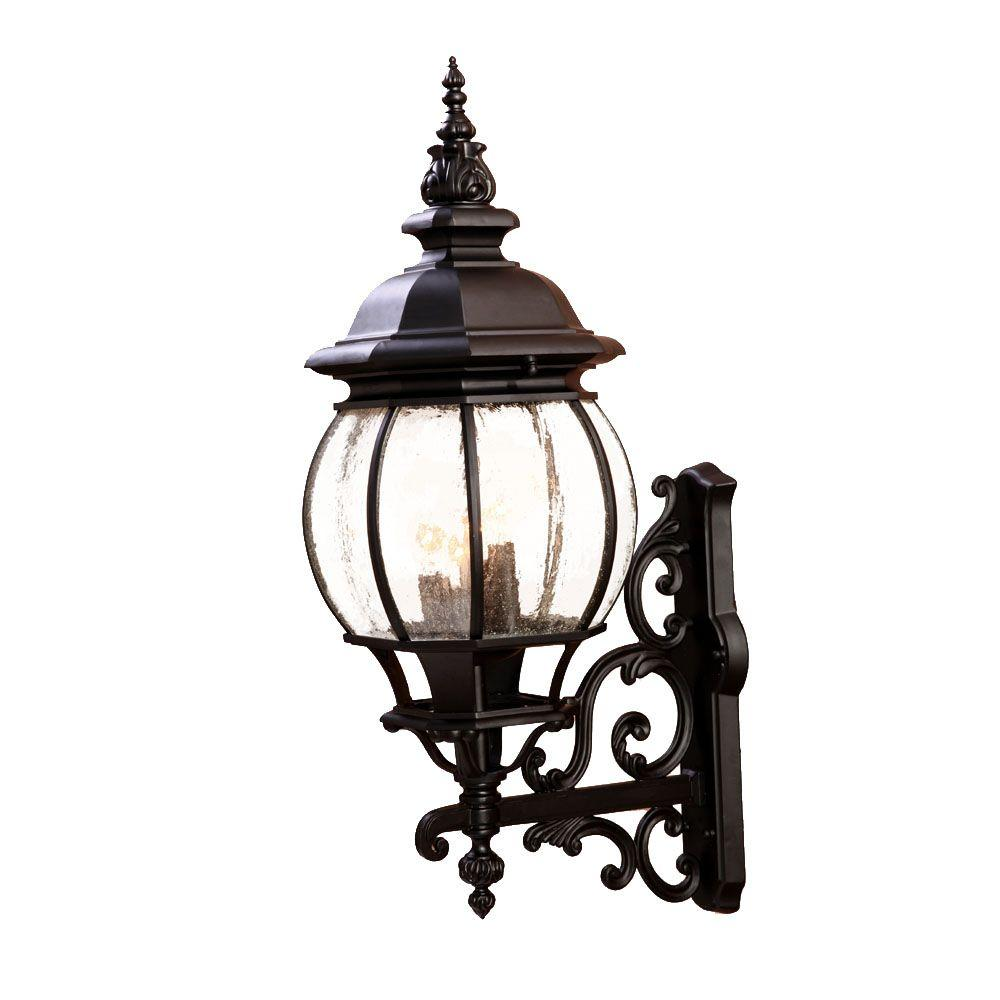 Acclaim Lighting Chateau Collection 4-Light Matte Black ... on Outdoor Lighting Fixtures Wall Mounted id=53169