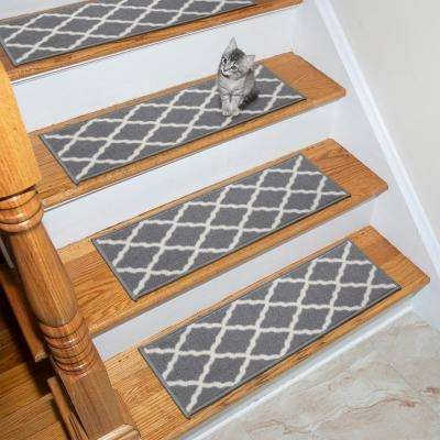 4 Rubber Backed Ottomanson Stair Tread Covers Rugs The   Rubber Backed Carpet Stair Treads   Ottomanson Softy   Wood   Softy Stair   Slip Resistant Rubber   Beige
