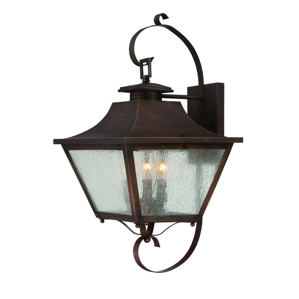 Acclaim Lighting Lafayette Collection 3-Light Copper ... on Outdoor Lighting Fixtures Wall Mounted id=41688