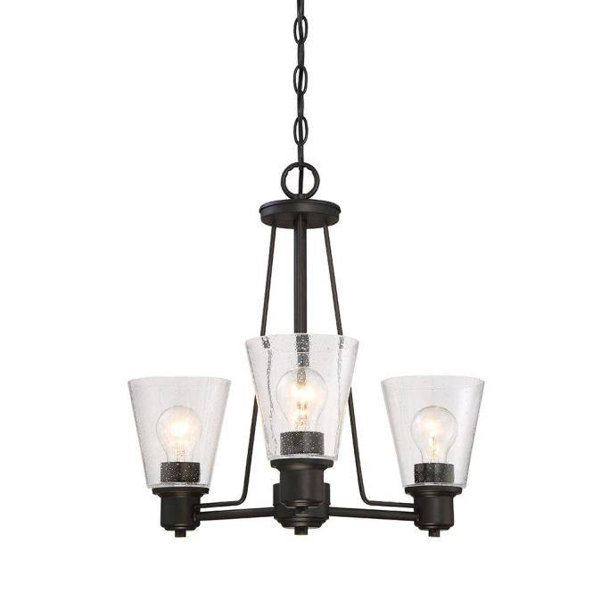 Designers Fountain Printers Row 3 Light Oil Rubbed Bronze Interior Incandescent Chandelier