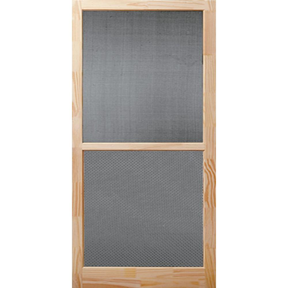 bay 32 in x 80 in century unfinished wood on Bay 32 In X 80 In 32 In Clear 6 Panel Solid id=98499