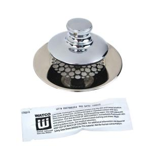 Watco Universal NuFit Push Pull Bathtub Stopper Grid Strainer And Silicone 48750 PP CP G The