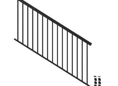 Aluminum Outdoor Handrails Deck Stairs The Home Depot | Metal Stairs Home Depot | Stair Tread | Stair Stringer | Stair Parts | Handrail | Stair Railing