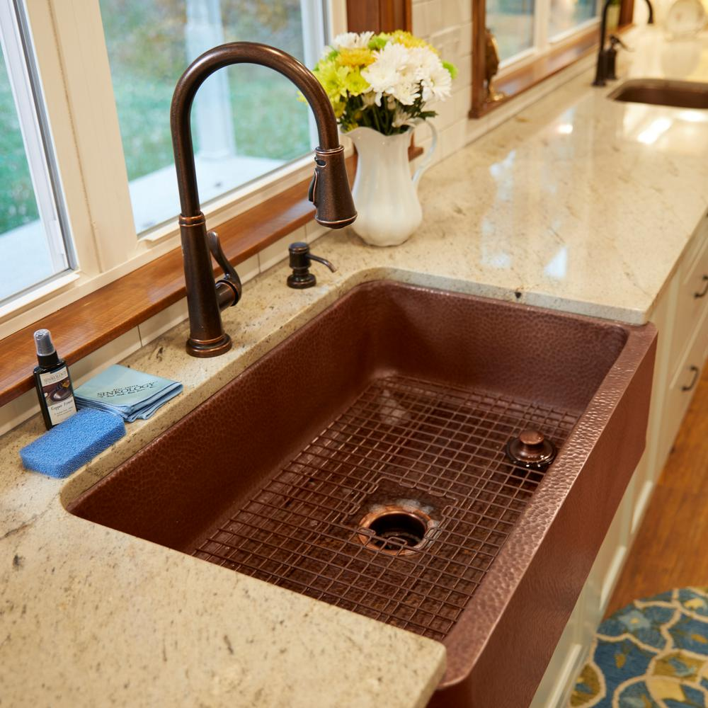 how to clean a sinkology copper sink