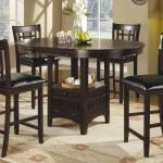 Coaster Lavon Round Counter Height Dining Set Cappucino Lavoncountercapset At Homelement Com