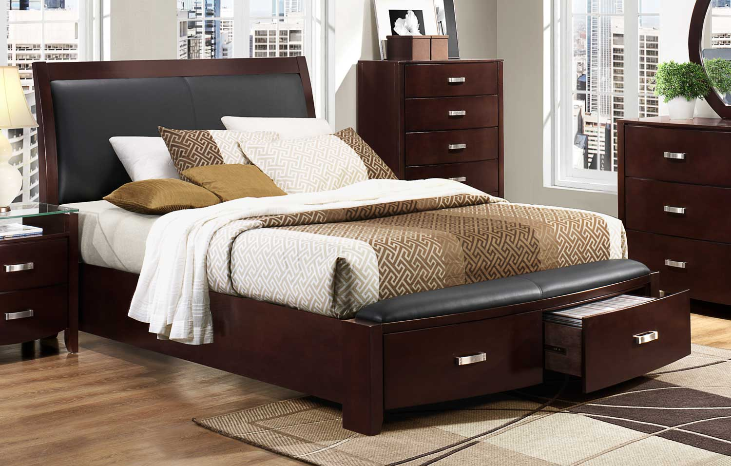 Homelegance Lyric Platform Bed Dark Espresso 1737nc 1 At Homelement Com