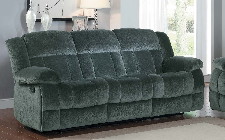 Homelegance Laurelton Double Reclining Sofa Charcoal Textured Plush Microfiber 9636cc 3 At Homelement Com