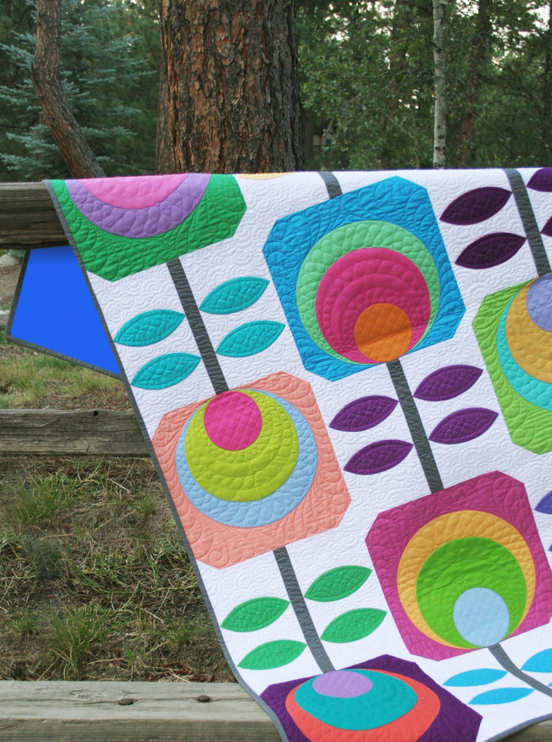 Last One Flower Power Quilt Kit By Swirly Girl Designs