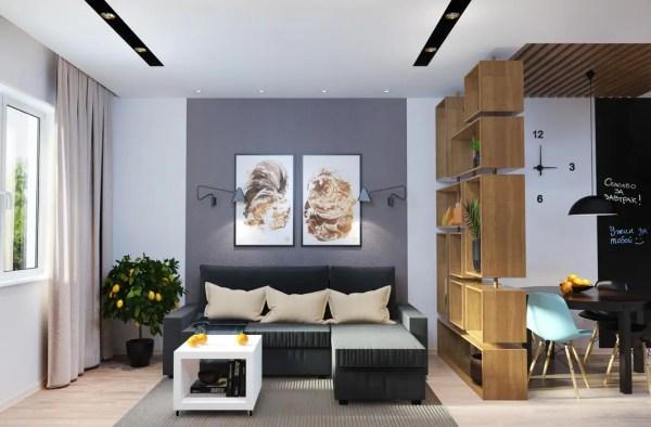 Дизайн-проект квартиры для молодой пары. гостиные в ...