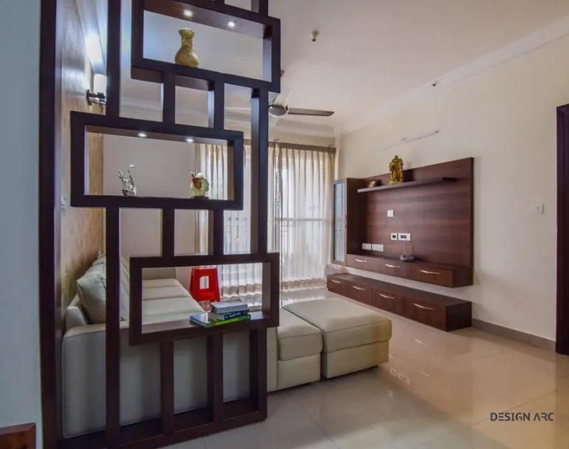 Living Room Tv Unit Interior Design Bangalore By Arc Interiors