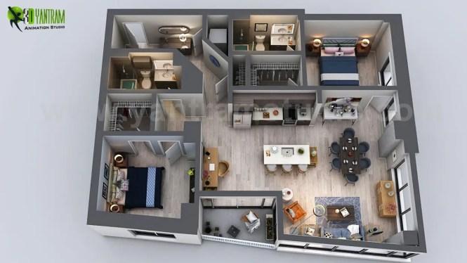 Floor Plan Rendering Ideas
