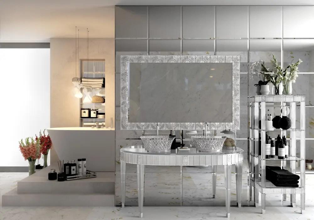Stanza da bagno suite con mobile cristallo. : bagno in ... on Stanza Da Bagno  id=91421